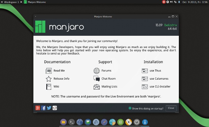 Manjaro-Fluxbox-15-10-Released-2