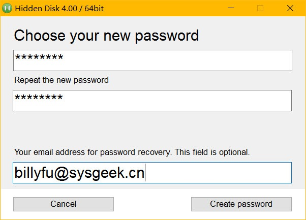 Create or Update Password