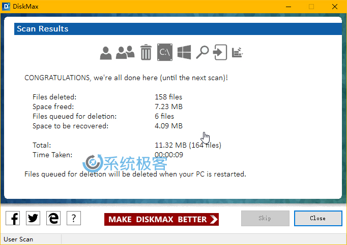 DiskMax——Windows中功能完整的清理应用程序