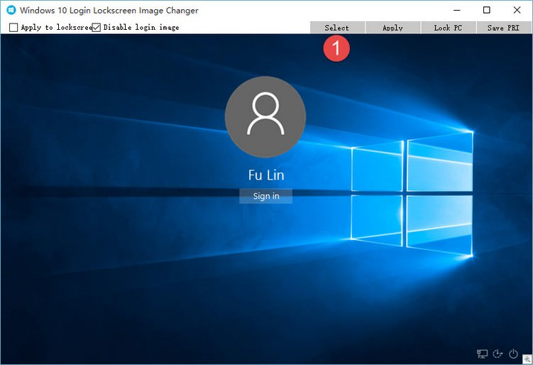 Windows 10 Login Lockscreen Image Changer